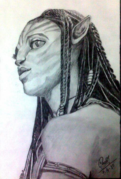 Zoe Saldana por yash_rajhans